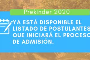 Conoce el listado de postulantes que iniciará la Admisión 2020