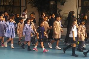 Se realizó simulacro de evacuación en todo el colegio